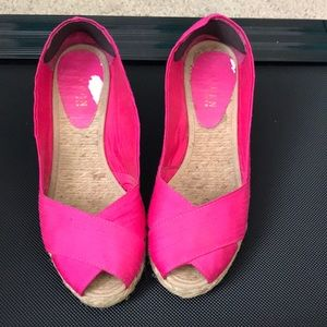 Fuchsia Ralph Lauren wedge shoes 8.5